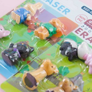 Animal Land Eraser Set