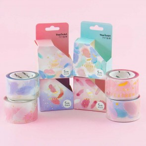 Pastel Feather Masking Tape
