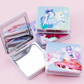 Unicorn Heroine Square Mirror