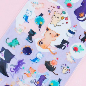 Nekoni Witch Cat Stickers