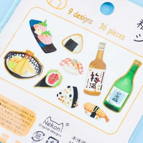 Nekoni Izakaya Washi Stickers