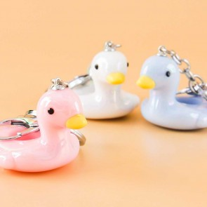 Swan Pool Float Keychain