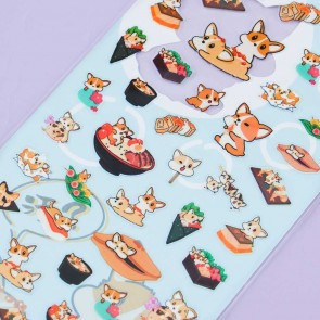 Nekoni Corgi & Japanese Food Stickers