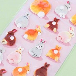 Bunny Puffy Stickers