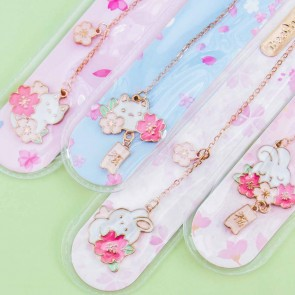 Bunny & Sakura Chain Bookmark