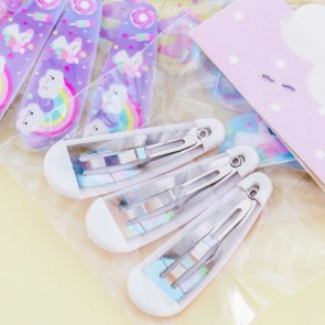 Rainbow Unicorn Hair Clip Set
