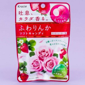 Kracie Fuwarinka Strawberry Rose Candy