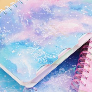 Magical Constellation Spiral Notebook
