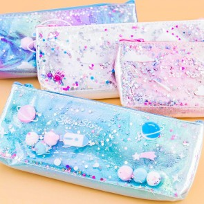 Glitter Galaxy Pencil Case