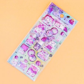 Holographic Glitter Cosmetic Puffy Stickers
