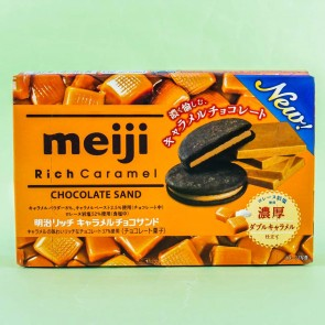 Meiji Rich Caramel Chocolate Biscuits