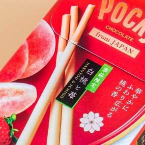 Pocky Biscuit Sticks - White Peach & Strawberry