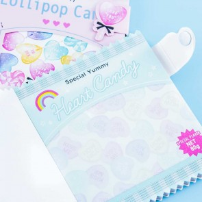 Heart Candy Wrapper Notebook