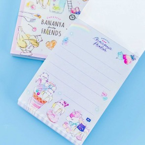 Bananya Fruity Friends Dessert Notepad