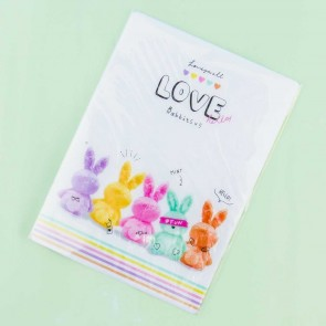 Love Hello Rabbits Pencil Pad