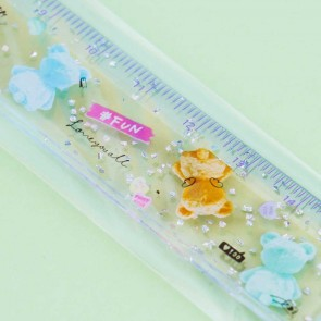 Glittery Love Hello Bears Ruler