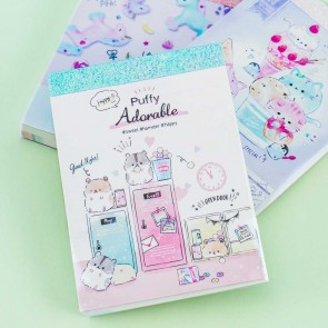 Sweet Puffy Animal Memo Pad