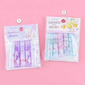 Bananya Fruity Friends Dessert Pencil Caps