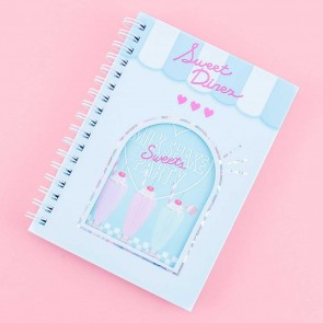 Sweet Diner Milkshake Party Spiral Notebook
