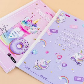 Unicorn Dustbox & Candy Unicorn Notebook