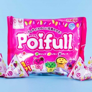 Meiji Poifull Mix Fruit Gummies Mini Multi-Pack - 9 pcs