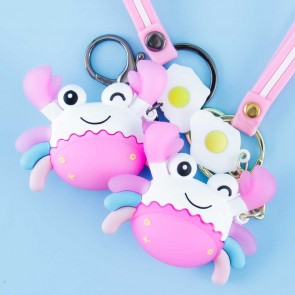 Smiling Crab with Egg Keychain