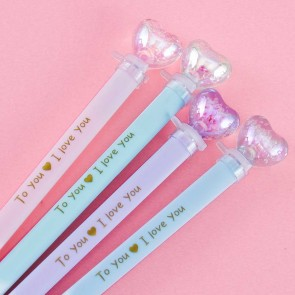 Light Up Shiny Heart Pen