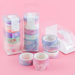 Pastel Sakura Flowers Washi Tape Set