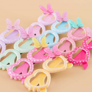 Ribbon Heart Shaped Glasses Hair Clip
