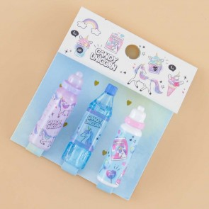 Candy Unicorn Soda Bottle & Tumbler Pencil Caps