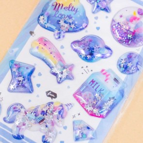 Unicorn Galaxy Puffy Stickers