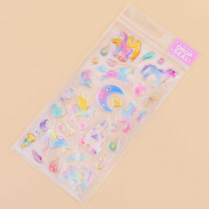 Unicorn & Moon Drop Seal Stickers