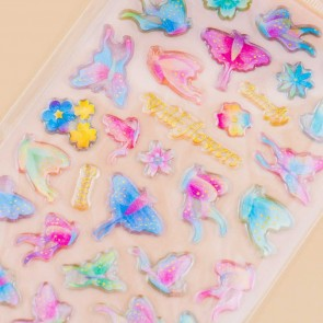 Wild Flowers & Butterflies Drop Seal Stickers