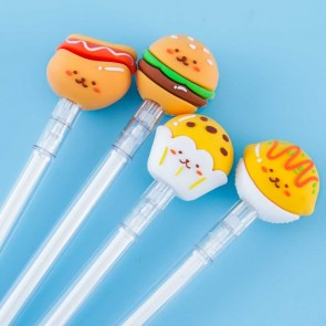 Happy Fast Food Snack Pen