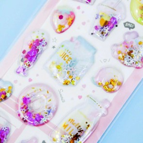 Shiny Desserts & Drinks Puffy Stickers
