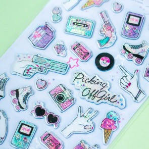 Glittery Roller Skates & Ice Cream Stickers