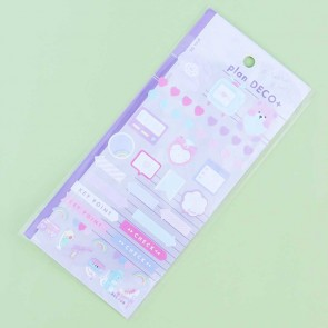Rainbow & Hearts Plan Deco Stickers