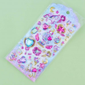 Jewelry Tiara Unicorn Puffy Stickers