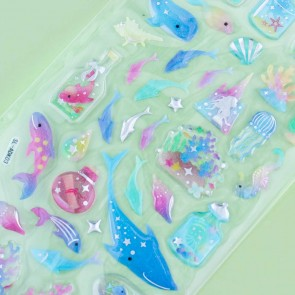 Sea Creatures Drop Seal Stickers