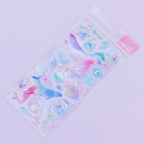 Mermaid & Sea Animals Drop Seal Stickers