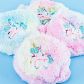 Fluffy Rainbow Unicorn Coin Purse