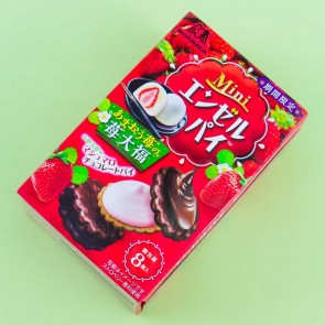 Morinaga Mini Angel Pie - Amaou Strawberry