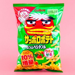 Calbee Good Luck Sapporo Potato Chips - Mixed Vegetable