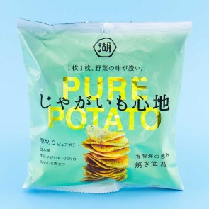 Koikeya Pure Potato Chips - Ariake Sea Grilled Seaweed