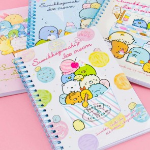 Sparkly Sumikko Gurashi & Ice Cream Spiral Notebook