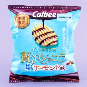Calbee Salty Almond Chocolate Potato Chips