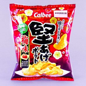 Calbee Kata-age Potato Chips - Plum