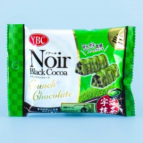 Noir Black Cocoa & Matcha Crunch Chocolate Biscuits