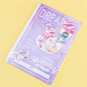 Unicorn Rainbow Cafe Grid Notebook