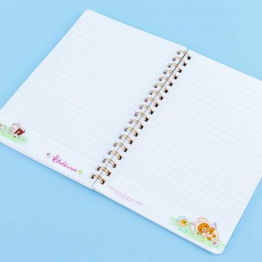 Rilakkuma With Rabbits In The Flower Forest Spiral Notebook